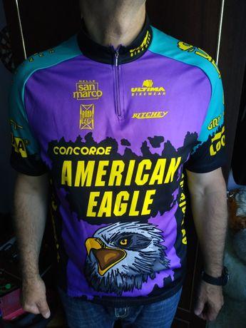 Винтажная велофутболка(American eagle)