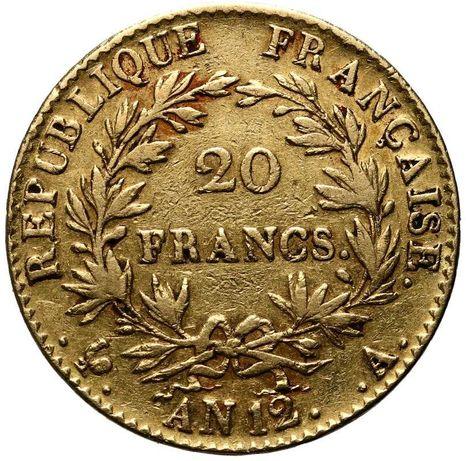 Złota moneta 20 Franków 1802 r. Francja Rzadka