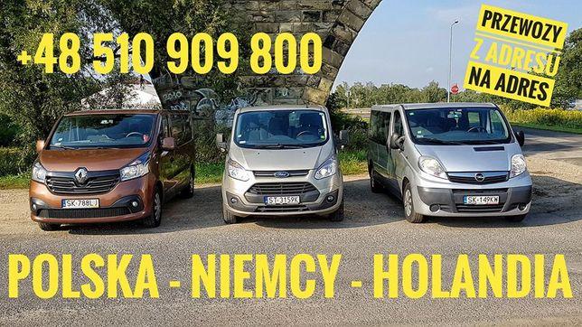 PRZEWÓZ OSÓB Polska Niemcy Holandia bus transport do Niemiec Holandii