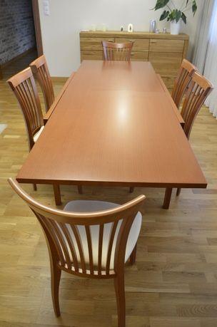Komplet włoski (Ideal Sedia) drewniany stół pechino + 6 krzeseł