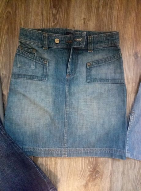 Юбка котоновая джинсовая фирменная