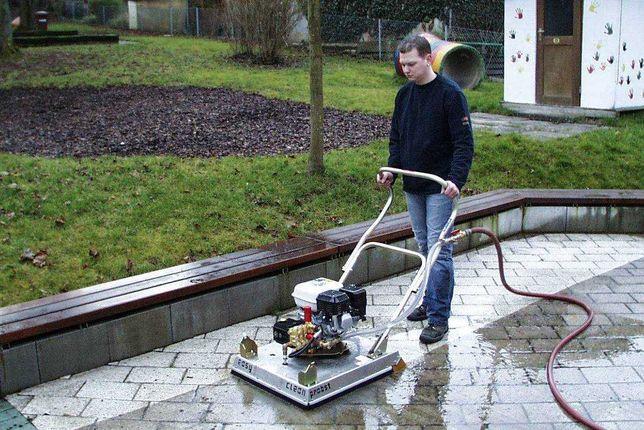 Profesionalne mycie kostki brukowej, elewacji koszenie trawnika itp
