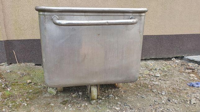 Wózek, cymber ze stali nierdzewnej, zbiornik, pojemność 200 L