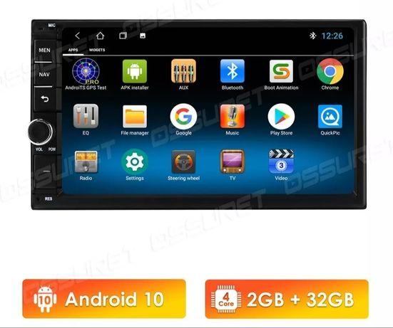Rádios android 2 din universais GPS USB WiFi Bluetooth etc (novos)
