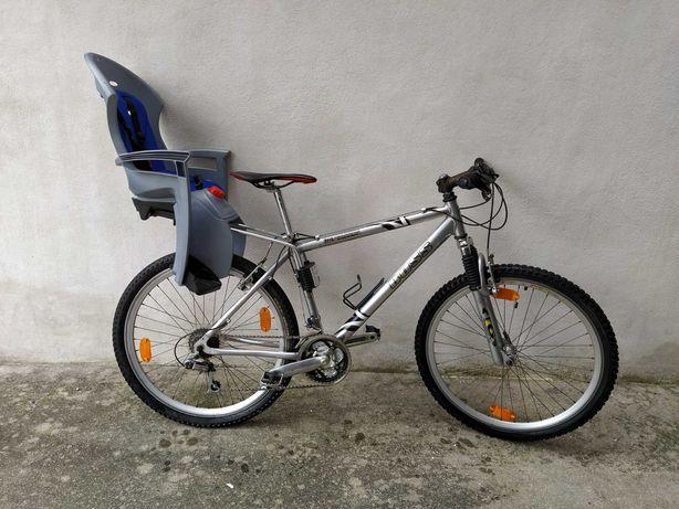 Bicicleta Alumínio 21 velocidades + Cadeira Criança Reclinável