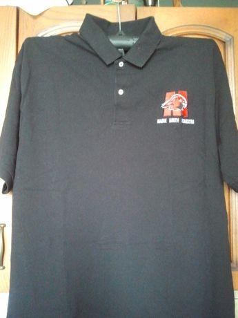 Duża koszula polo, męski t-shirt, głęboka czerń, Roz. XL