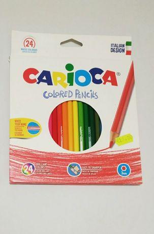 Новые Карандаши цветные 24цв Carioca