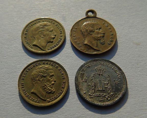 Lauer żetony Napoleon Oskar II Fryderyk III Wilhelm II
