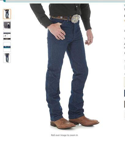 Джинсы мужские Wrangler 936 Cowboy Cut Slim Fit Rigid жесткие 32 х 34