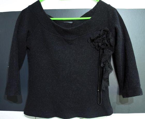 Elegancki sweter czarny rozmiar S