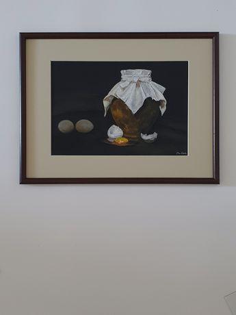 Картина пастелью. Натюрморт