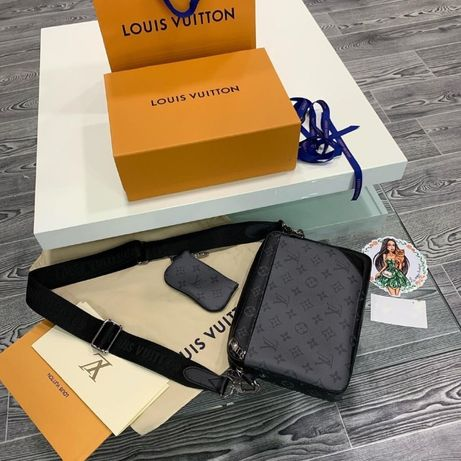 Od ręki Louis Vuitton trio messenger monogram eclipse reverse M69443