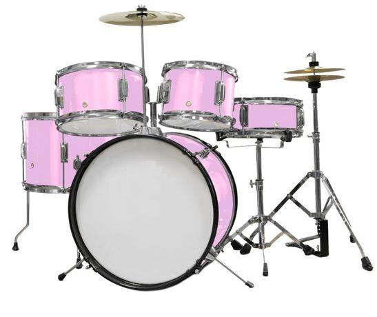 Perkusja dla dziecka Ever Play Black Tiger Junior Pink JBJ1046
