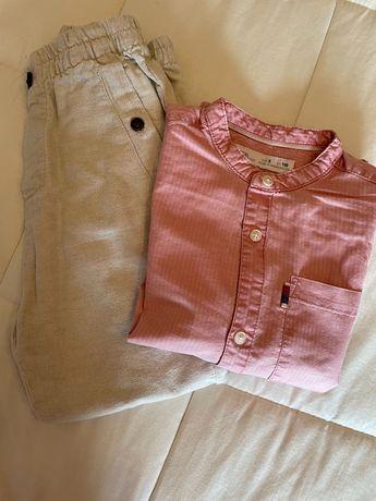 Conjunto da Zara kids - Camisa e calça