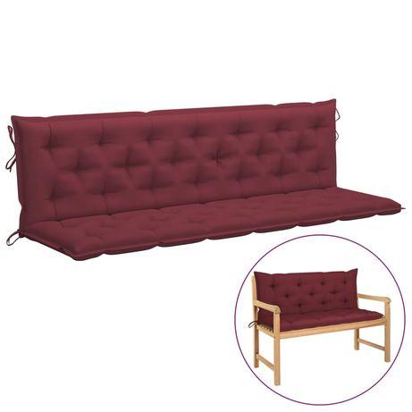 vidaXL Almofadão para cadeira de baloiço 200 cm tecido vermelho tinto 315049