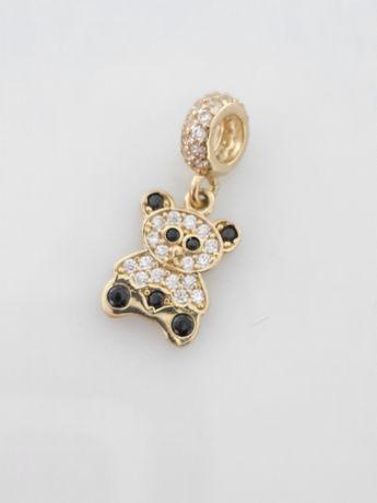 Złoty charms Pandora. Próba 585 Nowy