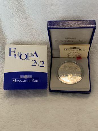 2002 França 1 1/2 Euros Monnaie de Paris Moeda De Prata Proof