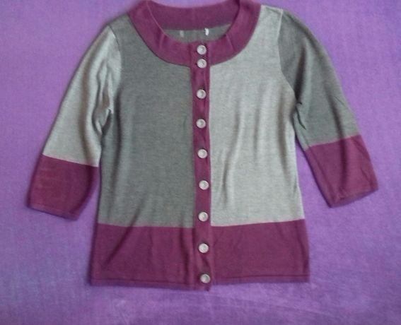 MIA MODA szaro fioletowy cienki sweter r.M