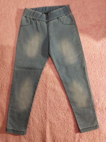 Nowe leginsy treginsy jeansowe 98