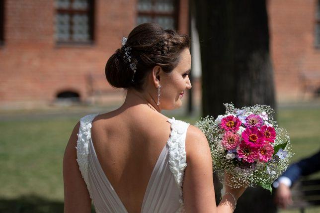 Przepiękna biżuteria ślubna, ozdoba na włosy, tiara, diadem, opaska,