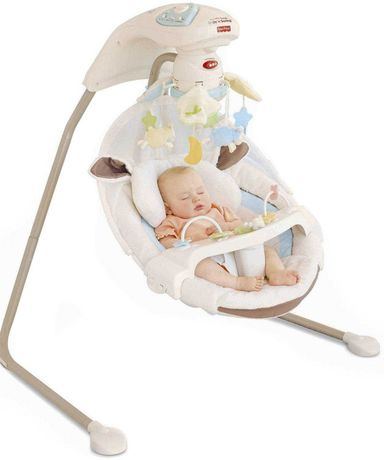 Кресло качалка шезлонг Fisher price my little lamb