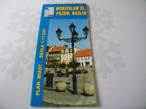 plan miasta - Wodzisław Śl. Pszów Radlin