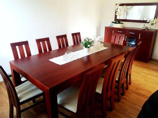 Piękny komplet, meble do jadalni kuchni na 10os stół krzesła komoda