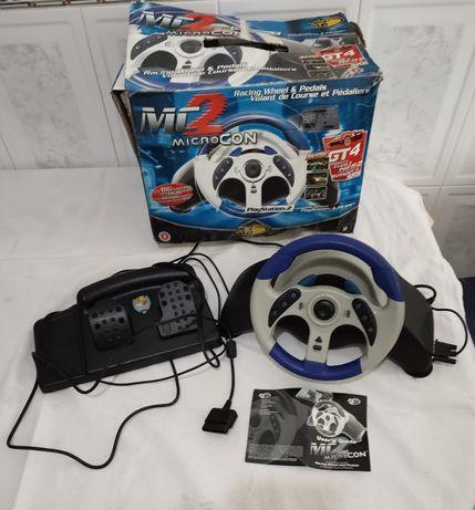 Ps2 volante com os pedais para a Playstation 2 com a caixa original