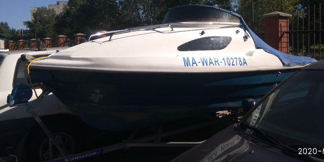 łódż motorowa kabinowa wędkarska Fiord 425+przyczepa+silnik
