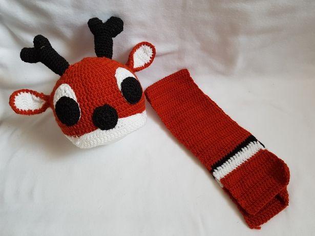 Komplecik dla dziecka czapka z szalikiem