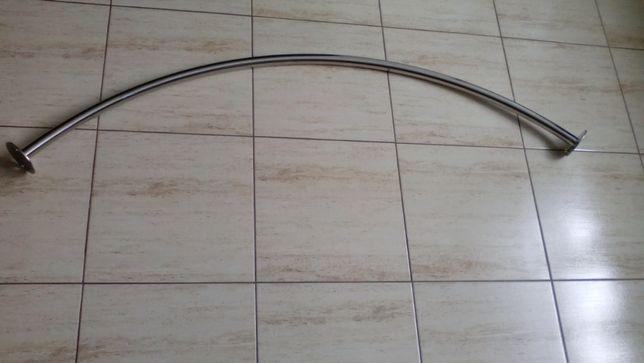 Drążek prysznicowy półokrągły z rury kwasówki