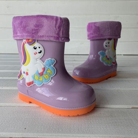 Резиновые сапоги детские единорог, гумові дитячі чоботи,