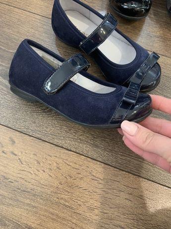 Кожаные туфели для девочки(натуральная замша)