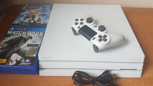 Playstation 4 PRO CUH-7116 pad 6 gier PS4