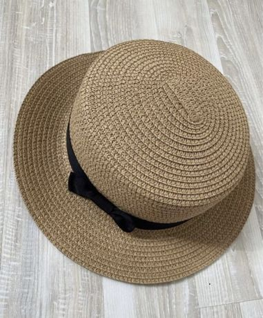Плетеная соломенная шляпа летняя