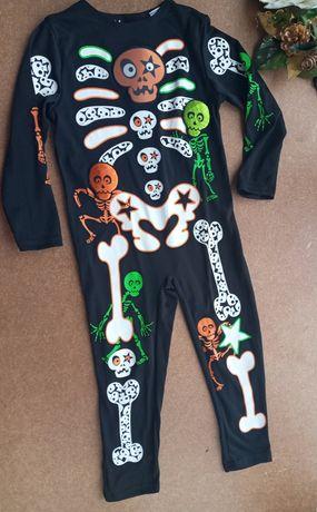 Карнавальный костюм комбинезон 3-4 года Скелет Кощей Бессмертный