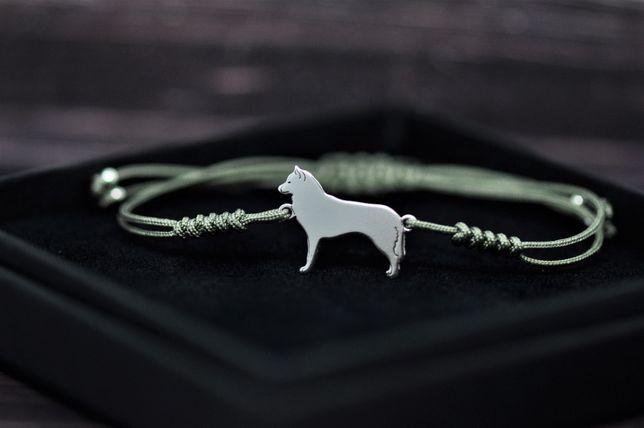Siberian Husky - bransoletka, srebro 925