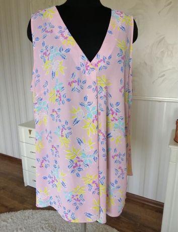Нежная, лёгкая блуза большого размера 60-62, европейский 24 uk.