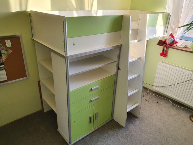Łóżko piętrowe z szafą i komodą-zestaw
