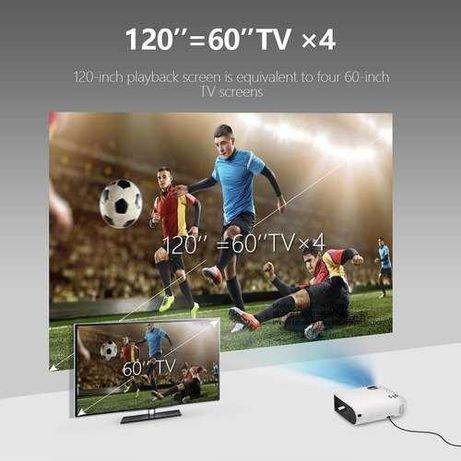 ULTRA LEKKI  projektor HD 1280p LED DLP LG Hw300g JASNY