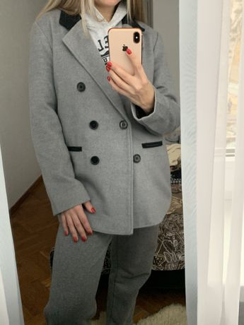 Базовое пальто оверсайз прямое демисезон