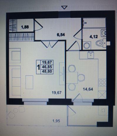 Однокімнатна квартира в новобудові на Рясне-2