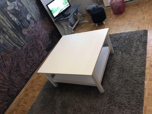 Piękna biała ława z blatem pod spodem IKEA