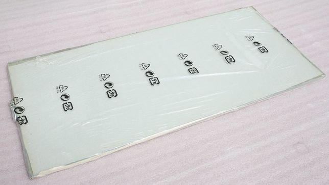 Półka szklana, szkło hartowane 76,1x34,6x0,6 cm plus podpórki.