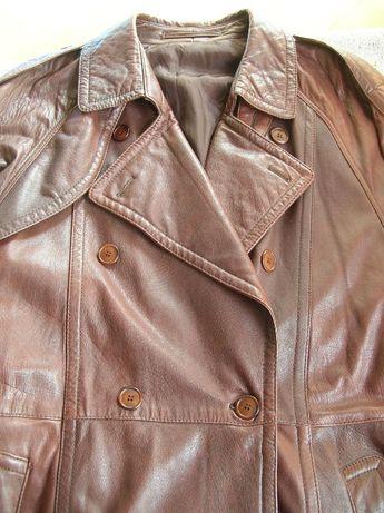 Męska skórzana kurtka L/XL ramoneska vintage dwurzędowa skóra 50/52/54