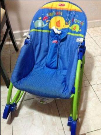 Cadeira Espreguiçadeira Baloiço Fisher-Price com vibração