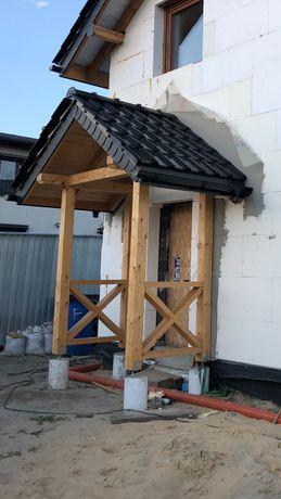 Daszek nad drzwi, drewniany, solidny 160x200