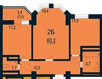 Продается 2 к квартира в Новом сданном доме