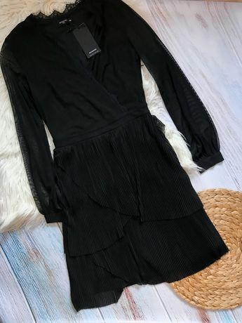 Платье с V образным вырезом, коасивое платье, сукня Reserverd
