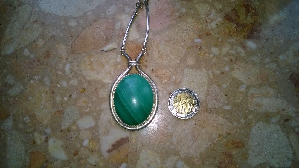 Tylko dzis !!! piekny malachit w srebrze 925 nie złom złoto